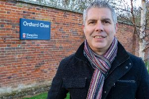 Parent carer Dave Humphries, pictured outside the under-threat Orchard Close respite centre for disabled adults on Hayling Island