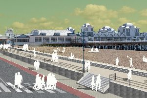 Plans for the sea defences at South Parade Pier