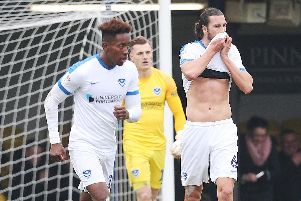 Pompey look dejected after throwing away a three-goal lead at Southend. Pictutre: Joe Pepler