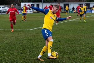 Charlie Davis scored a superb goal for Gosport Borough. Picture: Vernon Nash (090219-090)