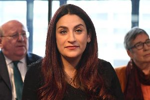 Labour MP Luciana Berger during a press conference at County Hall in Westminster, London, where she announced her resignation along with a group of six other Labour MPs. Picture: Stefan Rousseau/PA Wire