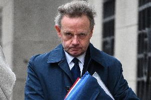 Pilot Andrew Hill, who is on trial over the Shoreham Airshow crash, arrives at the Old Bailey in London. Photo: Kirsty O'Connor/PA Wire