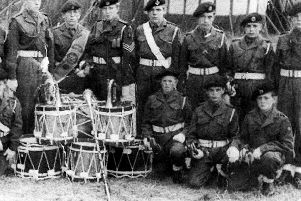 Based at Burnaby Road Drill Hall these lads all belonged to the Royal Engineer Cadet Force in 1962. Photo: Lawrence Clark.