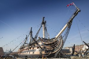 HMS Victory. Picture: Chris Stephens
