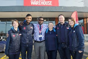 From left, Rebekah Street, deputy manager, Rupesh Patel, refit manager, Dwight Adams, area manager, Diane Oakley, retail assistant, Kevin Owens, store manager and Deborah Sellwood, supervisor. Picture: Sarah Standing (190219-9569)
