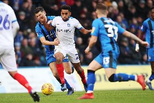 Nathan Thompson has been an impressive performer for Pompey this season. Picture: Joe Pepler