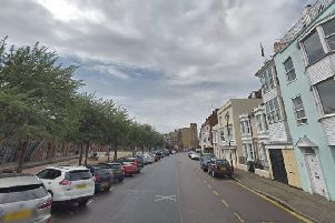 Broad Street, in Old Portsmouth, where police were called to a robbery in progress on Wednesday evening. Picture: Google Street View