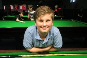 Owen Jenkins made a superb 54 break. Picture: Tim Dunkley