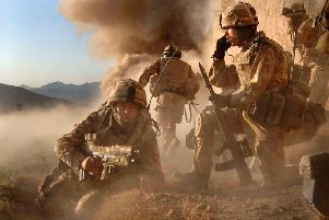 Pictured is M Company, 42 Commando Royal Marines, carrying out Operation Volcano against Taliban forces in the village of Barikyu in Nothern Helmand Province. Photo: MoD/Crown Copyright/PA Wire