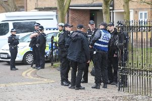 A police officer was stabbed in the back at Stamshaw Park near Newcomen Road in Portsmouth, on Thursday, February 21 at 12.15pm.''Picture: Sarah Standing (210219-1688)