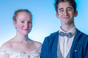 Matilda Andrews is Cinderella and Rhys Jones is Prince Christopher in University of Portsmouths Dramatic and Musical Societys production of Rodgers & Hammersteins Cinderella. Picture: James Taylor