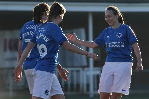 E-J May scored for Pompey Women against Moneyfields. Picture: Jordan Hampton