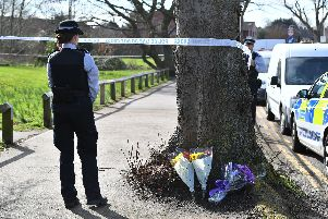 Sadly familiar sight - floral tributes left to a youngster after they had been fatally stabbed in broken Britain. This time the victim was 17-year-old Jodie Chesney.