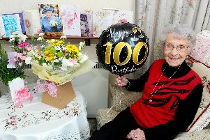Rosina Hampton, known as Non, from Hayling Island, celebrated her 100th birthday on February 23. Picture: Sarah Standing (260219-235)