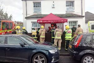 A person has died at an address in Church Road in Hayling Island on March 6, 2019, at around 1.07pm. Up to 15 firefighters attended along with police and medics after an 'unknown substance' was found. Picture: Neil Fatkin
