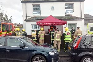 Emergency services in Church Road on Hayling Island 'Picture: Neil Fatkin