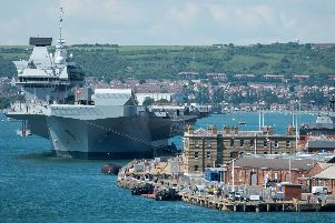 HMS Queen Elizabeth is docked in Portsmouth. Picture: Matt Cardy/Getty Images