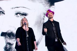 Amba with Boy George on tour.