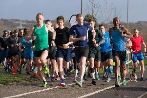 The start of Portsmouth Lakeside parkrun. Picture: Duncan Shepherd