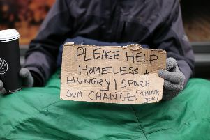 File photo of a homeless man in London. Picture: Yui Mok/PA Wire