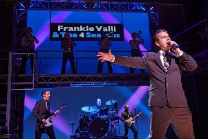 Michael Watson as Frankie Valli in Jersey Boys. Picture by Brinkhoff-Moegenburg