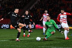 Barnsley were held to a goalless draw by Doncaster Rovers on Friday night. Picture Jonathan Gawthorpe