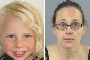 Claire Colebourn (right) has been jailed for life for killing her daughter Bethan