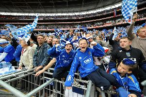 Pompey fans at the 2008 FA Cup final at Wembley. Picture: Allan Hutchings (082211-098)