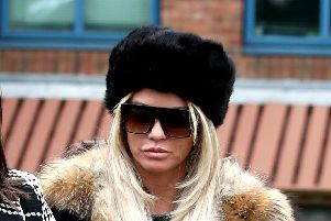 Katie Price faces two counts of using threatening, abusive, words or behaviour to cause harassment, alarm or distress. Picture: Steve Parsons/PA Wire