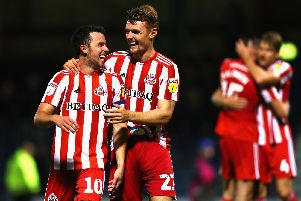 Sunderland midfielders George Honeyman, left, and Max Power. Picture: Naomi Baker/Getty Images