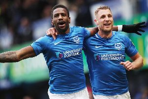 Omar Bogle and his fellow Pompey loanees will be able to feature in the League One play-offs. Picture: Joe Pepler/Digital South