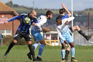 AFC Lovedean took on AFC Eastney at Langstone.  Picture: Kevin Shipp