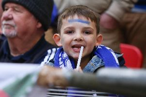 Tens of thousands of Pompey fans made the trip to Wembley on Sunday. Picture : Habibur Rahman