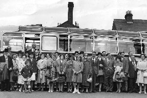 Evening coach trip from the Labour Club, Arundel Street. They were very popular in the 1960s. Picture: J.A. Hewes/John Toman collection.