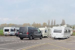 The travellers have parked next to King George V Playing Fields. Picture: David George