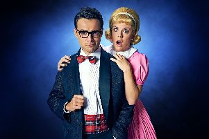 Ben Adams and Joanne Clifton as Brad and Janet in The Rocky Horror Show at the Mayflower, Southampton.