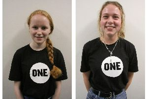 Ella Reilly, left, and Susannah Sparkes have joined the One campaign 'Picture submitted April 2019