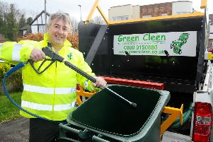 Pete Keniston, has started a wheelie bin cleaning franchise called Green Cleen, covering PO1 to PO6 postcodes.'Picture: Sarah Standing (050419-5433)