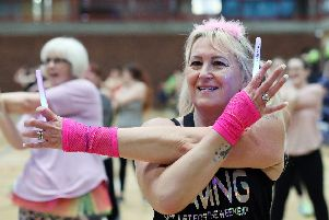 Sue Robson at the Danceathon in aid of the Rowans Hospice, Mountbatten Centre, Portsmouth. Picture: Chris Moorhouse (070419-15)