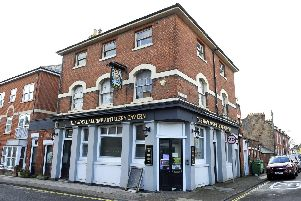 The Royal Marine Artillery Tavern in Eastney on its last day