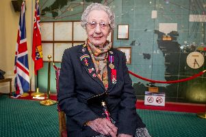 Marie Scott in the Map room of Southwick house.