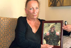 Viv Johnston, mother of special forces hero Danny Johnston, has welcomed efforts by a coroner to put pressure on the MoD after her son's suicide. Photo: Tom Cotterill