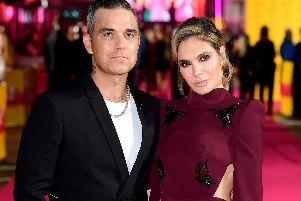 Robbie Williams and Ayda Field, who have quit The X Factor. Picture: Ian West/PA Wire