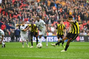 Kenny Jackett served as a pundit on BT Sport for Watford's FA Cup semi-final victory over Wolves. Troy Deeney's penalty took the game to extra-time. Picture: Dan Mullan/Getty Images)