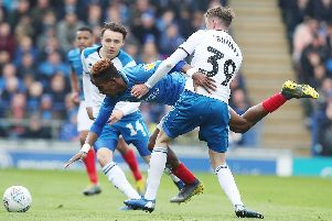 Rochdale struggled to get to grips with the impressive Jamal Lowe on Saturday. Picture: Joe Pepler