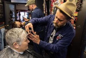 The Barbership is expanding into Hillfield Trading and will have nine seats for hair cutting -'Picture: Duncan Shepherd