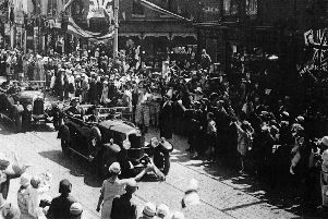 King Edward VIII visiting Portsmouth on June 30, 1936 crossing the Waverley Road and Albert Road junction in Southsea.