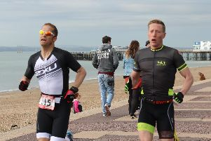 Portsmouth Duathlon Series contenders Neil Collins, left, and Rob Arkell have been racing shoulder to shoulder so far