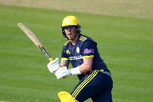 Sam Northeast smashed an unbeaten century against former team Kent. Picture by Jordan Mansfield/Getty Images