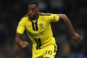 Lucas Akins has impressed for Burton this season. Picture: Gareth Copley/Getty Images